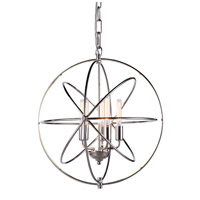 Vienna 5 Light 20 inch Polished Nickel Pendant Ceiling Light, Urban Classic