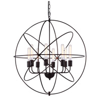 Elegant Lighting 1453D32DB Vienna 8 Light 32 inch Dark Bronze Pendant Ceiling Light, Urban Classic