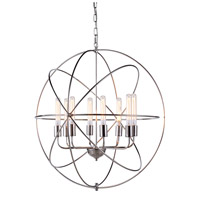 Elegant Lighting 1453D32PN Vienna 8 Light 32 inch Polished Nickel Pendant Ceiling Light, Urban Classic