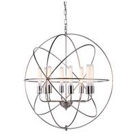 Elegant Lighting 1453D32PN Vienna 8 Light 32 inch Polished Nickel Pendant Ceiling Light, Urban Classic