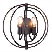Elegant Lighting 1453W13DB Vienna 2 Light 13 inch Dark Bronze Wall Sconce Wall Light, Urban Classic