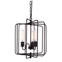 Lewis 3 Light 16 inch Dark Bronze Pendant Ceiling Light