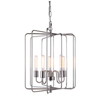 Urban Classic by Elegant Lighting Lewis 5 Light Pendant in Polished Nickel 1454D20PN