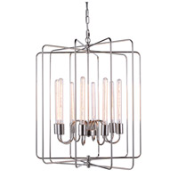 Urban Classic by Elegant Lighting Lewis 8 Light Pendant in Polished Nickel 1454D25PN