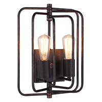 Lewis 2 Light 10 inch Dark Bronze Wall Sconce Wall Light, Urban Classic