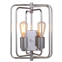 Lewis 2 Light 10 inch Polished Nickel Wall Sconce Wall Light, Urban Classic