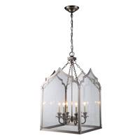 Elegant Lighting 1459D20VN Newport 6 Light 20 inch Vintage Nickel Pendant Ceiling Light in Vintage Bronze Urban Classic