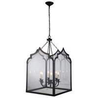 Urban Classic by Elegant Lighting Newport 6 Light Pendant in Bronze 1459D26BZ