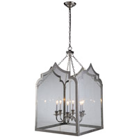 Elegant Lighting 1459D26PN Newport 6 Light 26 inch Polished Nickel Pendant Ceiling Light, Urban Classic