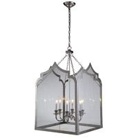 Elegant Lighting 1459D26PN Newport 6 Light 26 inch Polished Nickel Pendant Ceiling Light Urban Classic