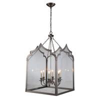 Elegant Lighting 1459D26VN Newport 6 Light 26 inch Vintage Nickel Pendant Ceiling Light Urban Classic