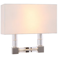 Urban Classic by Elegant Lighting Cristal 2 Light Wall Sconce in Polished Nickel with Clear Crystal 1461W13PN