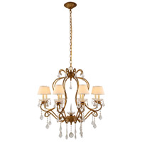 Diana 8 Light 31 inch Golden Iron Chandelier Ceiling Light, Urban Classic