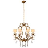 Elegant Lighting 1471D31GI Diana 8 Light 31 inch Golden Iron Chandelier Ceiling Light Urban Classic