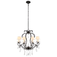 Urban Classic by Elegant Lighting Diana 8 Light Chandelier in Vintage Bronze with Royal Cut Clear Crystal 1471D31VB