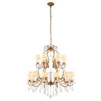 Urban Classic by Elegant Lighting Diana 18 Light Chandelier in Golden Iron with Royal Cut Clear Crystal 1471G39GI
