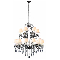Urban Classic by Elegant Lighting Diana 18 Light Chandelier in Vintage Bronze with Royal Cut Clear Crystal 1471G39VB