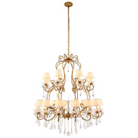 Urban Classic by Elegant Lighting Diana 24 Light Chandelier in Golden Iron with Royal Cut Clear Crystal 1471G44GI