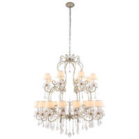 Urban Classic by Elegant Lighting Diana 24 Light Chandelier in Vintage Silver Leaf with Royal Cut Clear Crystal 1471G44SL