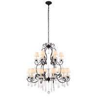 Urban Classic by Elegant Lighting Diana 24 Light Chandelier in Vintage Bronze with Royal Cut Clear Crystal 1471G44VB