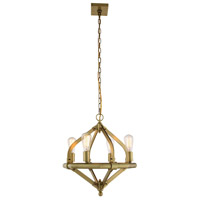 Elegant Lighting 1472D20BB Illumina 4 Light 20 inch Burnished Brass Pendant Ceiling Light Urban Classic