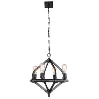 Elegant Lighting 1472D20BZ Illumina 4 Light 20 inch Bronze Pendant Ceiling Light Urban Classic