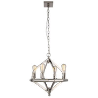 Illumina 4 Light 20 inch Polished Nickel Pendant Ceiling Light, Urban Classic