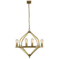 Urban Classic by Elegant Lighting Illumina 8 Light Pendant in Burnished Brass 1472D31BB