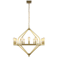 Urban Classic by Elegant Lighting Illumina 12 Light Pendant in Burnished Brass 1472G39BB