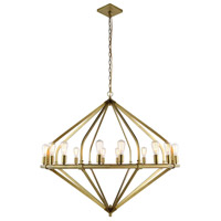 Urban Classic by Elegant Lighting Illumina 16 Light Pendant in Burnished Brass 1472G52BB
