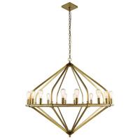 Elegant Lighting 1472G52BB Illumina 16 Light 52 inch Burnished Brass Pendant Ceiling Light Urban Classic