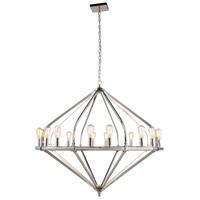 Elegant Lighting 1472G52PN Illumina 16 Light 52 inch Polished Nickel Pendant Ceiling Light Urban Classic