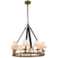 Elegant Lighting 1473D33BB Cascade 8 Light 33 inch Burnished Brass Pendant Ceiling Light Urban Classic