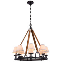 Elegant Lighting 1473D33BZ Cascade 8 Light 33 inch Bronze Pendant Ceiling Light Urban Classic