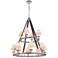 Cascade 12 Light 37 inch Polished Nickel Pendant Ceiling Light, Urban Classic
