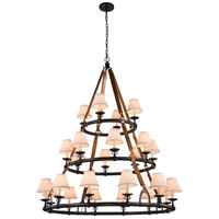 Cascade 24 Light 52 inch Bronze Pendant Ceiling Light, Urban Classic