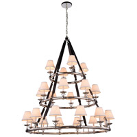 Cascade 24 Light 52 inch Polished Nickel Pendant Ceiling Light, Urban Classic