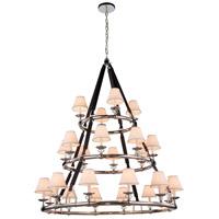 Elegant Lighting 1473G52PN Cascade 24 Light 52 inch Polished Nickel Pendant Ceiling Light Urban Classic