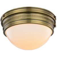 Pria 2 Light 13 inch Burnished Brass Flush Mount Ceiling Light, Urban Classic