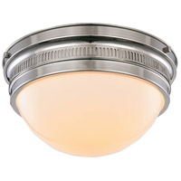 Pria 2 Light 13 inch Polished Nickel Flush Mount Ceiling Light, Urban Classic