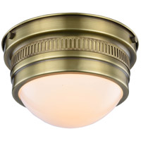 Pria 1 Light 9 inch Burnished Brass Flush Mount Ceiling Light, Urban Classic