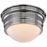 Pria 1 Light 9 inch Polished Nickel Flush Mount Ceiling Light, Urban Classic