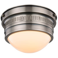Pria 1 Light 9 inch Vintage Nickel Flush Mount Ceiling Light, Urban Classic