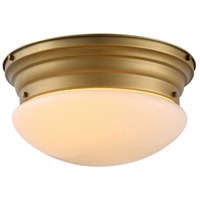 Daisy 3 Light 15 inch Burnished Brass Flush Mount Ceiling Light, Urban Classic