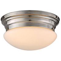 Daisy 3 Light 15 inch Polished Nickel Flush Mount Ceiling Light, Urban Classic