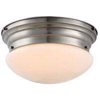 Daisy 3 Light 15 inch Vintage Nickel Flush Mount Ceiling Light, Urban Classic