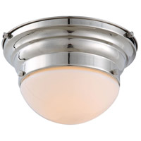 Urban Classic by Elegant Lighting Daisy 1 Light Flush Mount in Polished Nickel 1475F9PN