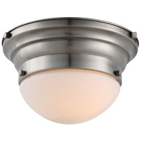 Elegant Lighting 1475F9VN Daisy 1 Light 10 inch Vintage Nickel Flush Mount Ceiling Light, Urban Classic