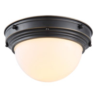 Jade 1 Light 10 inch Bronze Flush Mount Ceiling Light