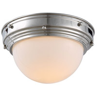 Jade 1 Light 10 inch Polished Nickel Flush Mount Ceiling Light, Urban Classic